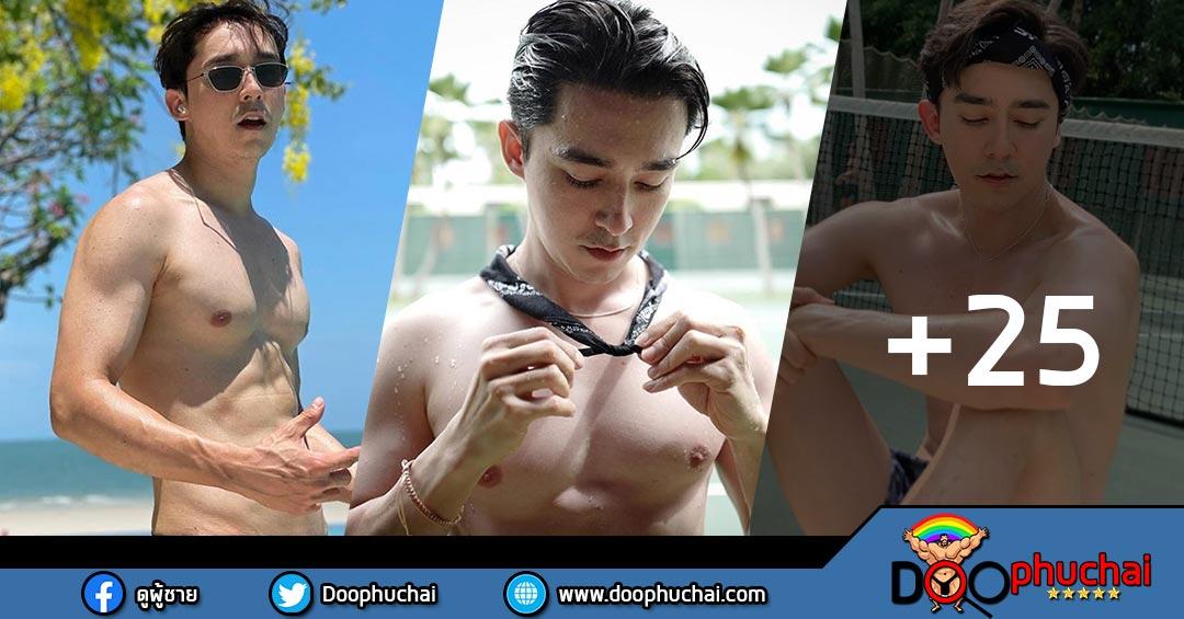 นักแสดงหนุ่มหล่อ โอม คณิน ลูกครึ่งไทย-ออสเตรเลีย ขาวเนียน งานดีมาก